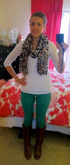 green pants outfits - Google Search