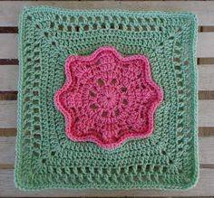 DragonFlyMomof2 Designs© & Designs on a Hook: ALWAYS IN BLOOM 12-inch Square