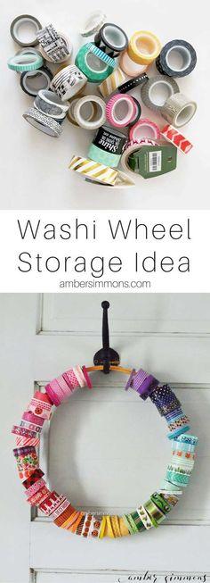 washi tape storage | craft organization | craft room | craft storage | planner supplies