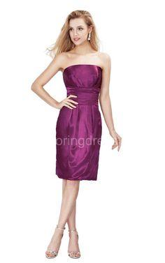 US$62.75-Simple Strapless Knee-length Satin Dress/ Cocktail Dress. http://www.newadoringdress.com/simple-strapless-knee-length-satin-dress-p310634.html
