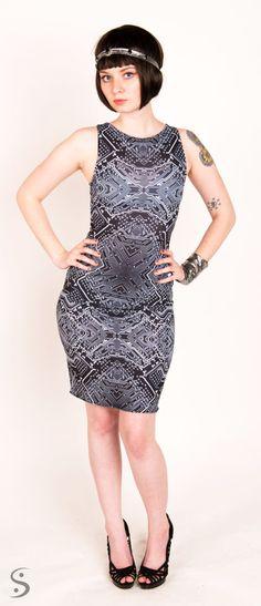Startup Girl Circuit Print Dress. $155.00, via Etsy.