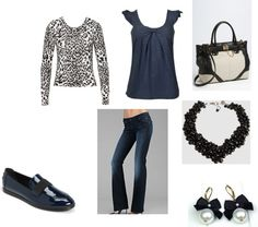 """""""Blue, Black and Cheetah"""" by angelarob on Polyvore"""