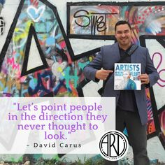"""Let's point people in the direction they never thought to look."" from the book Super Artist by David Carus Take That, Let It Be, The Book, The Creator, Creativity, Sketch, David, Positivity, Draw"