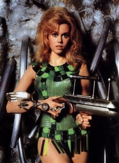 Jane Fonda in the film Barbarella wearing a Paco Rabanne costume