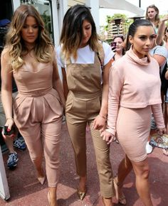 - 'Not true': Kylie Jenner slams claims she has had plastic surgery Sister act: The is pictured with Khloe (L) and Kim Kardashian in Miami after lunch on Tuesday Kim Kardashian, Kardashian Family, Kardashian Fashion, Kily Jenner, Jenner Style, Kendall Jenner, Passion For Fashion, Love Fashion, Womens Fashion