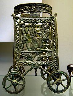 Minoan bronze stand, c.1400BC Cyprus, exhibited at The British Museum