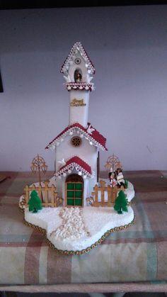 Villas  navideñas Whimsical Christmas, Blue Christmas, Christmas 2019, Xmas, Christmas Tree, Christmas Village Houses, Christmas Villages, Felt Christmas Ornaments, Christmas Decorations