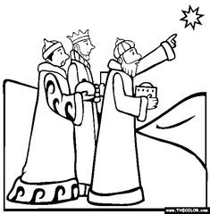 Another Wise Men Coloring Page