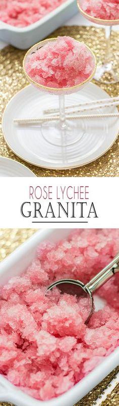 Rose Lychee Granita | Rosen Litschi Granita