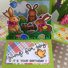 Pop Up Rabbit Birthday Card