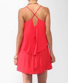 Flounced Crisscross Dress | FOREVER 21 - 2000042151