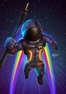 cosmonaut astronaut space jack music sound rainbow colors speed fly flight green yellow pink sound cord