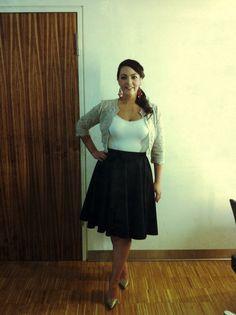 Morgenmagazin, April 29 2013 Bolero: Karen Millen Skirt: custom made Shoes: Jimmy Choo