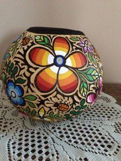 Spring Fiesta Gourd Bowl by jeldel on Etsy, $125.00