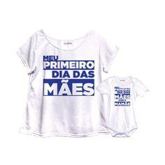 Camiseta tal mãe tal filha para presente de Dia das Mães.  Saiba mais em: http://mamaepratica.com.br/2016/04/13/14-presentes-para-dia-das-maes/