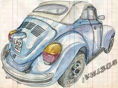 VW Beetle 1303. Lapin Barcelona.