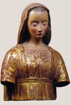 Scuola toscana - Vergine Annunciata -  XV secolo - legno policromo - Museo Horne - Firenze