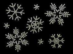 Rhinestone Iron On snowflakes Rhinestone by MPShineDesigns on Etsy, $9.00
