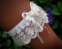 Vintage Lace Wedding Garter by Saint Townsend by Saint Townsend.