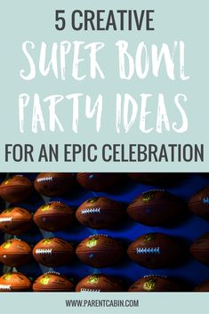 Super Bowl is the Name, and Football is the Game. These Super Bowl Party Ideas are going to be perfect for whatever type of party you're throwing.