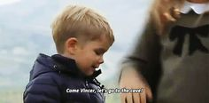 """Princess Isabella of Denmark affectionally calling her baby brother, Prince Vincent, by the nickname """"Vincer""""."""