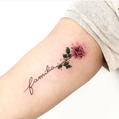 Feed Your Ink Addiction With 50 Of The Most Beautiful Rose Tattoo Designs For Me. - Feed Your Ink Addiction With 50 Of The Most Beautiful Rose Tattoo Designs For Men And Women – ro - Mini Tattoos, Body Art Tattoos, Small Tattoos, Sleeve Tattoos, Pretty Tattoos, Unique Tattoos, Beautiful Tattoos, Colorful Tattoos, Tatoo Rose