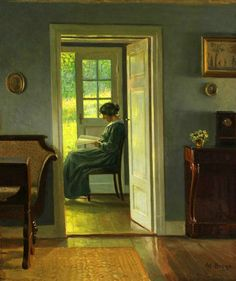 Woman Reading, Windows And Doors, Art World, Great Artists, Female Art, Art Pieces, Sweet Home, Victorian, Interior Design