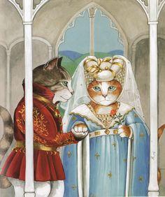"""Cat Art... =^. ^=... ❤... """"Henry V (William Shakespeare)"""" By Artist Susan Herbert..."""