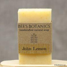 John Lemon Organic Soap Vegan Soap All Natural by BeesBotanics