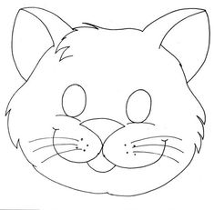 cat mask coloring page Printable Animal Masks, Card Making Templates, Cat Mask, Felt Patterns, Cat Crafts, Felt Animals, Mask For Kids, Preschool Activities, Coloring Pages
