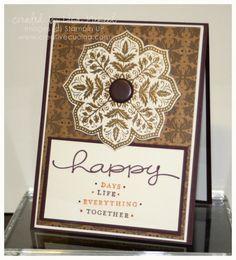 A First Anniversary Handmade Card