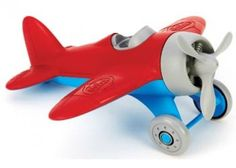 green toys Red winged Airplane to add to your 1 year old+ Air force. made from recycled plastic, Earth-Friendly toys. Made in USA Airplane Toys, Airplanes, Plastic Milk, Green Toys, Racing Stripes, Toys Online, Classic Toys, Educational Toys, Body Shapes