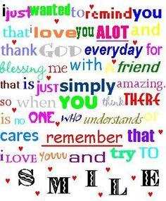 friendship or sisterhood! :)