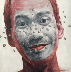 Self portrait by Agus Suwage