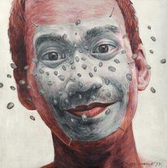 Self portrait by Agus Suwage