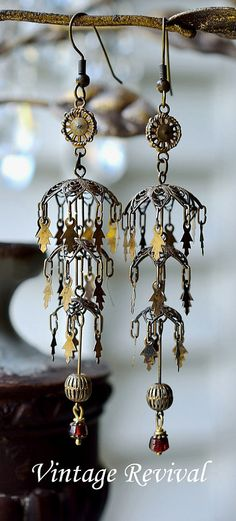 Victorian Filigree Earrings by thevintagerevivals on Etsy