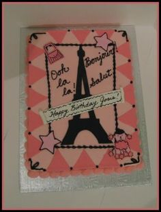 paris themed cakes | Cakes and Cupboards: Paris Themed Cake