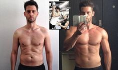 Joe Warner sculpts himself a six-pack by doing FIVE HOURS of exercise a week | Daily Mail Online