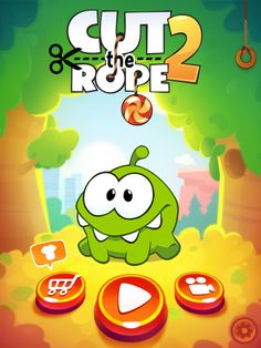Cut the Rope 2 | Splash | UI, HUD, User Interface, Game Art, GUI, iOS, Apps, Games, Grahic Desgin, Puzzle Game, Brain Games, Zeptolab | www.girlvsgui.com