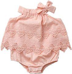 Amazon.com: Colorful Childhood Newborn Baby Romper Girls Jumpsuit Infant Bodysuit Tutu Lace Dress Clothes Outfit Pink Size 12-18M: Clothing