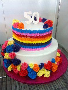 #151 2 tier Fiesta cake at delriocakes.biz