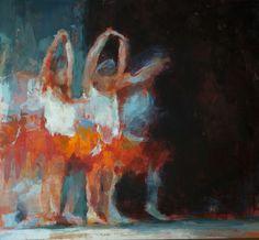 """Saatchi Art Artist Fernanda Cataldo; Painting, """"SOLD Bailarinas"""" #art"""