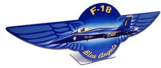 Vintage and Retro Tin Signs - JackandFriends.com - F18 Blue Angels  Table Topper Metal Sign 12 x 4 Inches, $14.98 (http://www.jackandfriends.com/f18-blue-angels-table-topper-metal-sign-12-x-4-inches/)