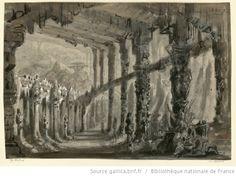 [Le corsaire : esquisse de décor de l'acte I,t. 2 / Hugues Martin] - 1856