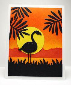 Card by Jody Morrow (050415) [My Favorite Things (dies) Die-Namics Circles STAX Set 1, LLD Flamingos, Wild Greenery]