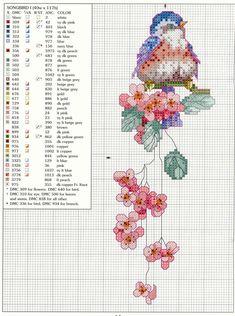 Schema punto croce Uccellino 4