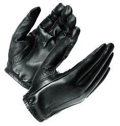 "Features: - Economical thin search glove constructed of durable premium leather. - Cut ""second-skin""thin for excellent feel and dexterity - With wrist length elasticized cuff. Sizes: SM-XXL"