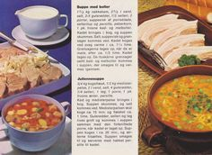 Suppe med boller  og juliennesuppe