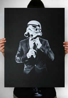 This Star Wars stormtrooper print proves that even Stormtroopers can look sharp
