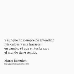 En tus brazos...  Mario Benedetti*